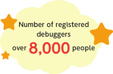 Number of registered debuggers over 8,000 people